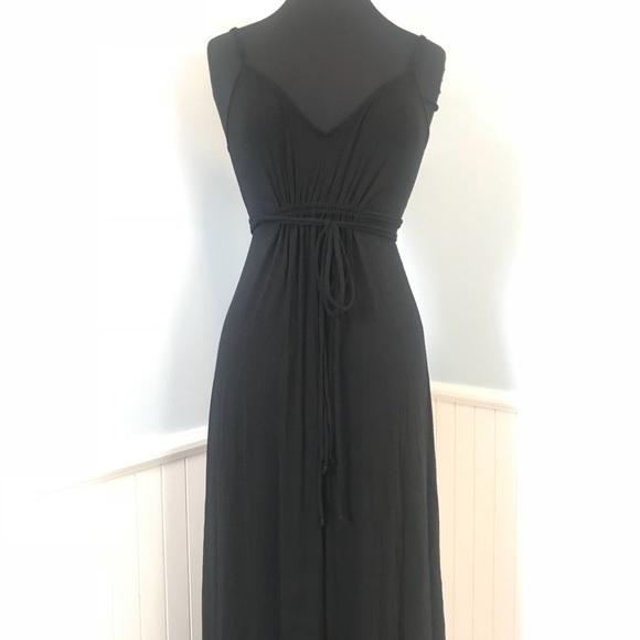 63f07a4218 Victoria's Secret Dresses | Victorias Secret Black Tie Waist Maxi ...